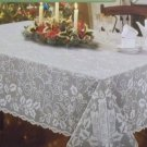 Lace Tablecloths Holly Glow White 52x70 Heritage Lace