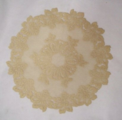 Heritage Lace Savoy Doily 18 R Medium Antique Gold Set Of (2)