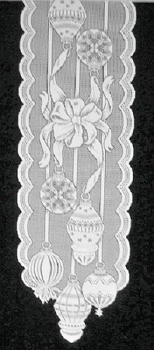 Table Runner Ornaments White 15 x 60 Table Runner Heritage Lace