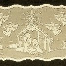 Table Runners Nativity 14x52 Ivory Heritage Lace
