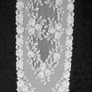 Table Runners Tea Rose Table Runner 14 x 72 White Heritage Lace
