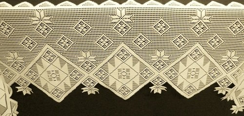 Mantel Scarf Quilt Patch Mantle Scarf 20 x 94 Ivory Heritage Lace
