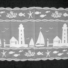 Heritage Lace Harbor Lights Table Runner Vibrant White 14 x 48 StunningPattern