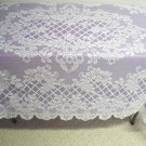 Tablecloth Trellis Rose Lace Rectangle Tablecloth 52 x 70 White