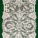 Table Runner Empress Pattern Table Runner 14 x 88 White