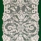Table Runner Empress Pattern Table Runner 14 x 88 White