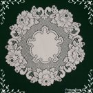 Lace Doily Vintage Rose Doily Set Of (2) White 15 Round Heritage Lace