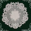 Lace Doily Vintage Rose Doily Set Of (2) White 15 Round Heritage Lace