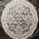Doilies Poinsettia Set Of (3) 14 Round Silver Lame Oxford House