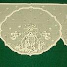 Nativity Mantle Scarf Ivory 20x94 Heritage Lace