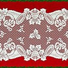 Lace Runners Christmas Horns 14x72 White Oxford House