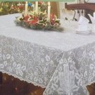 Lace Tablecloths Holly Glow 60x126 White Heritage Lace