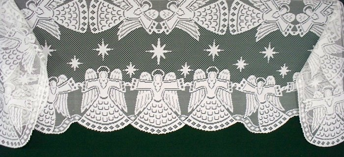 Mantle Scarf Glorious Angel 20x90 White Heritage Lace