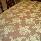 Lace Tablecloth Rose Bouquet Ivory 60x84