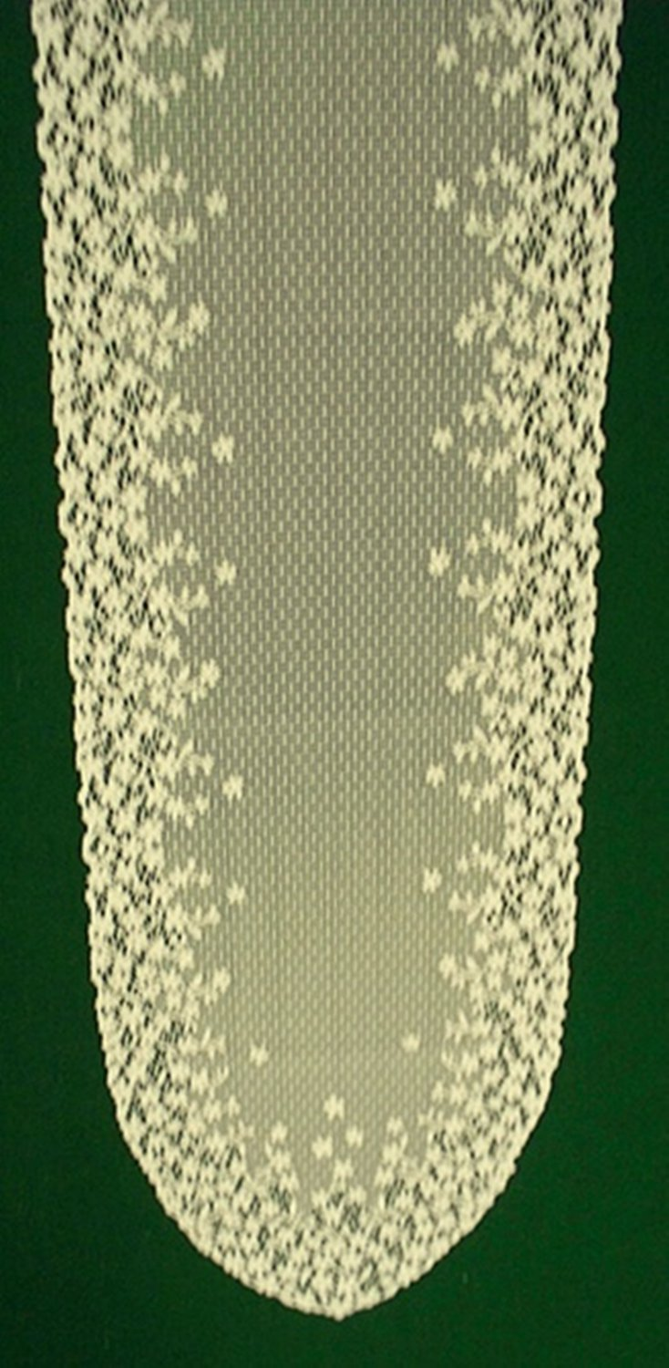 Blossom Table Runner 12x54 Ivory Heritage Lace