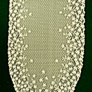Blossom Table Runner 12x46 Ivory Heritage Lace