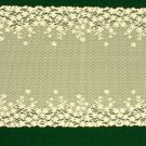 Blossom Table Runner 12x38 Ivory Heritage Lace