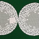 Lace Doilies Blossom 12 Inch Round White Set Of 2