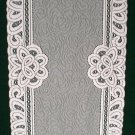 Table Runners Battenburg Paisley White 14x70 Table Linens