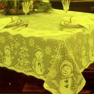 Snowman Family 60x82 Ivory Tablecloth Heritage Lace