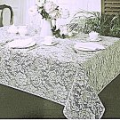 Lace Tablecloths Julia 60x84 White Tablecloth