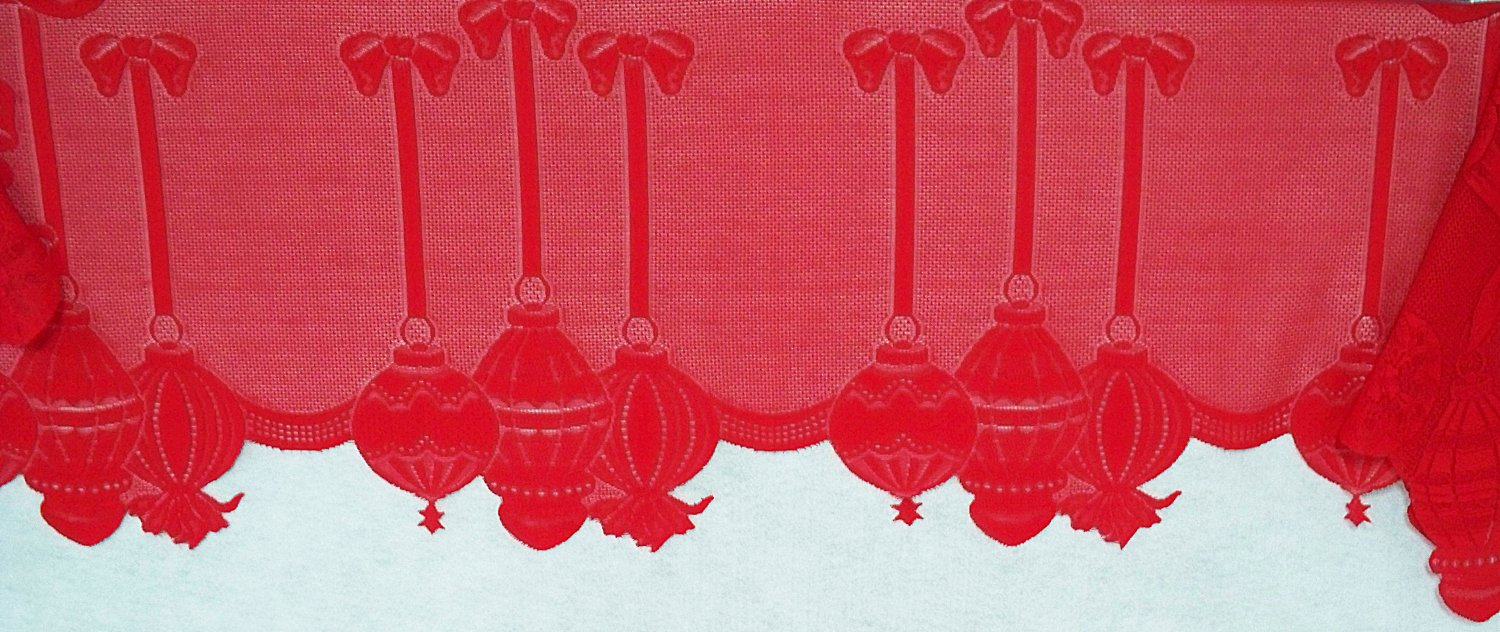 Mantel Scarves Ornaments 19x88 Red Fireplace Mantel Scarf Heritage Lace