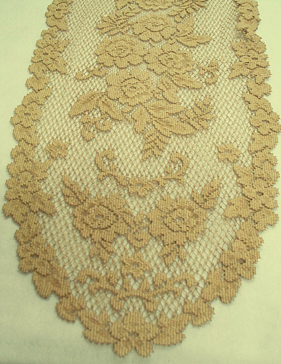 Victorian Rose Table Runner 13 x 54 Antique Heritage Lace