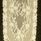 Table Runners Tea Rose Ecru 14x60 Lace Runner Heritage Lace