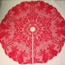 Tree Skirts Victorian Angels 48 Round Christmas Red Heritage Lace