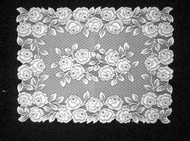 Tea Rose Lace Placemat 14x20 White Set Of (4)