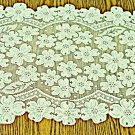 Table Runner Dogwood 14x33 Ecru Heritage Lace Table Linens