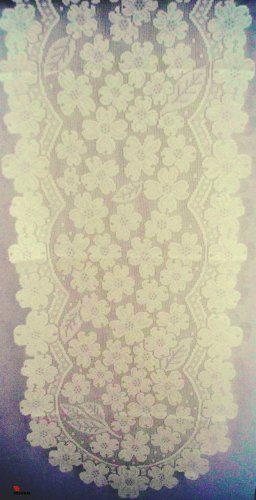 Table Runner Dogwood 14x53 Ecru Heritage Lace Table Linens