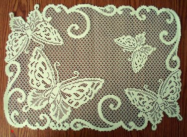 Butterflies Placemat 14x20 Ivory Set Of (4) Heritage Lace