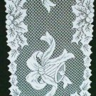 Holly Bells Table Runner 14x72 White Oxford House