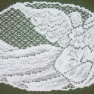 Doily Joyful Angel 7x12 White Set Of (4)Heritage Lace