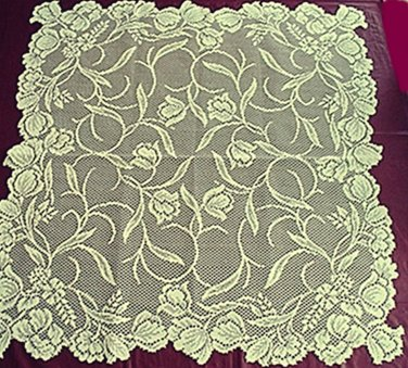 Table Toppers Dutch Garden 30x30 Ivory Oxford House