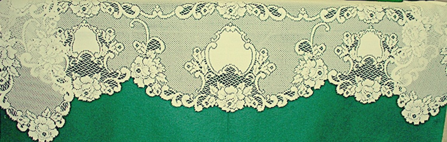 Mantle Scarf Vintage Rose Lace Mantle Scarf 20 x 90  Ivory Heritage Lace
