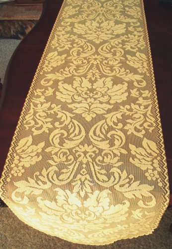 Table Runners Heritage Damask 14x64 Colonial Gold Table Runner Heritage Lace