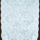 Gorgeous Poinsettia Table Runner White On White 13 x 76