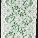 Poinsettia Table Runner 13 x 40 White With Green Fabric Backing