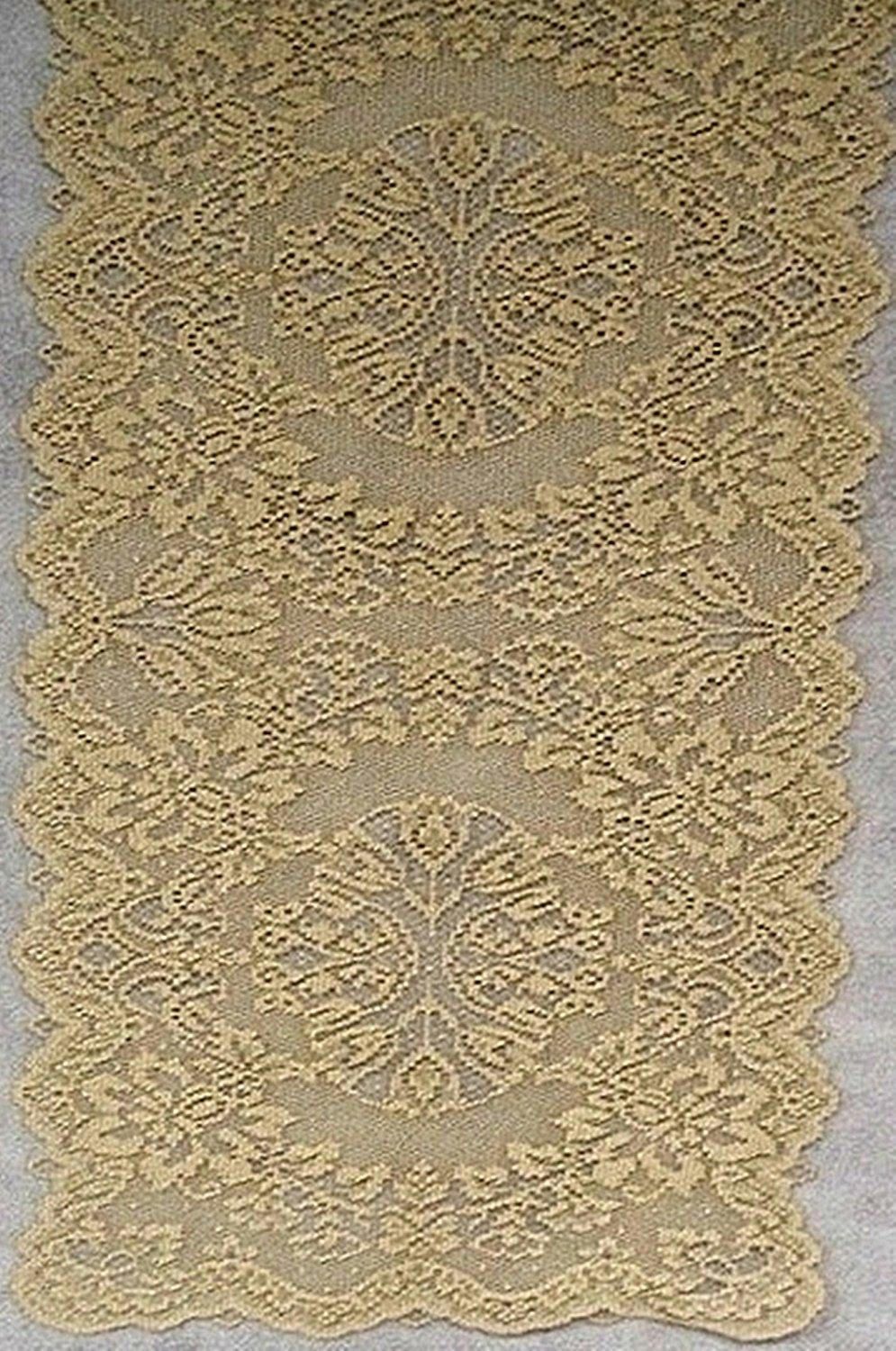 Table Runners Savoy 14x36 Metallic Antique Gold Heritage Lace