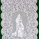 Table Runner O Holy Night 14 x 47 White Table Runner Heritage Lace