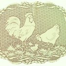 Rooster Placemat 14x19 Ecru Heritage Lace Set Of (4)