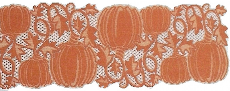 Table Runners Pumpkin Vine 14x36 Orange Table Runner Heritage Lace