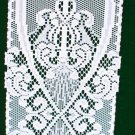 Table Runner Simply Brocade 9x50 White Piano Or Shelf Runner Heritage Lace