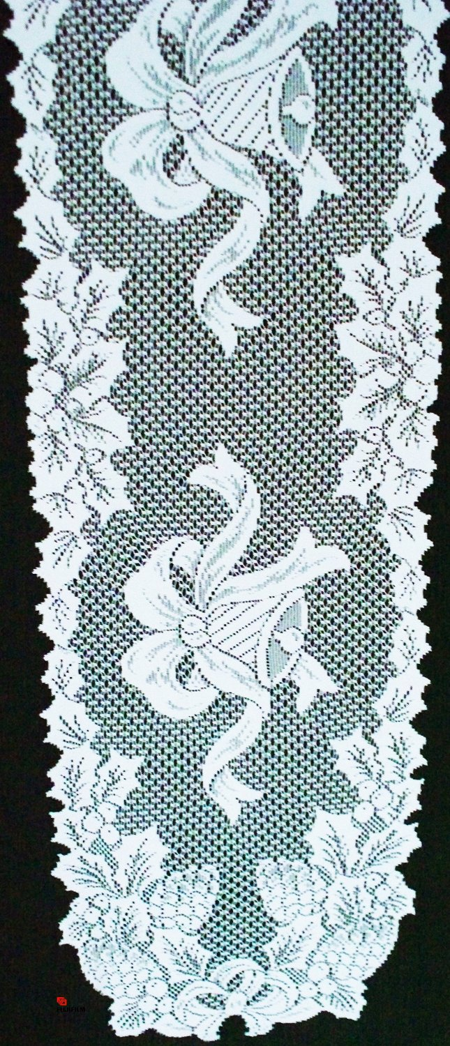 Table Runner Holly Bells 14x54 White Lace Table Runner Oxford House