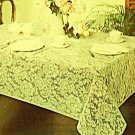 Tablecloth Julia  52 x 70 Ivory Rectangle Oxford House