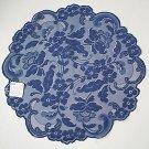 Lace Doilies Elizabeth Indigo 20 Inch Round Doily Set Of (2) Heritage Lace