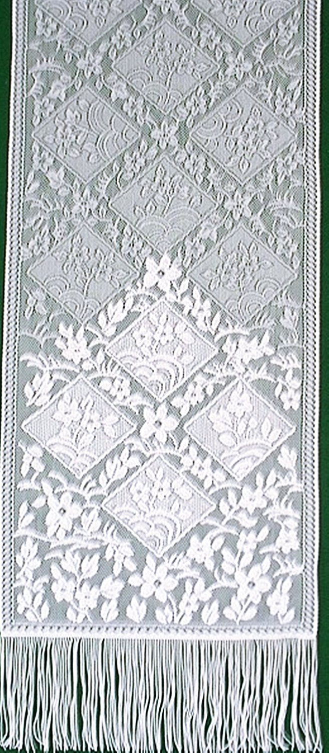 Chantilly Table Runner 14 Inches x 48 Inches White Heritage Lace Set Of (2)