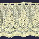 Heart and Flower Valance 62x12 Ecru Curtain Valance Oxford House